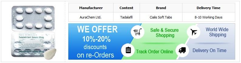 Buy 20mg Tadalis Soft Tabs Online